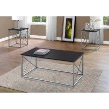 TABLE SET - 3PCS SET / CAPPUCCINO / SILVER METAL