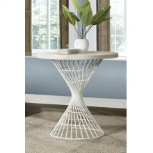 Kanister Round Counter Height Dining Table - White