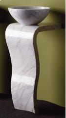 Wave Pedestal Carrara Marble Product Image