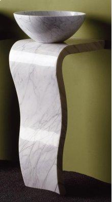 Wave Pedestal Carrara Marble