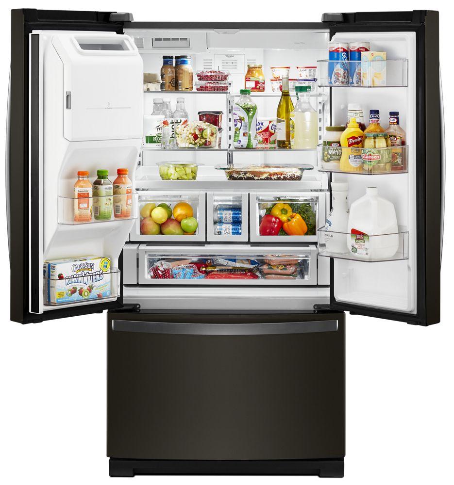 Whirlpool 36 Inch Wide French Door Refrigerator   27 Cu. Ft.