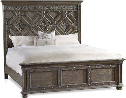 Vintage West King Wood Panel Bed