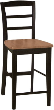 "24"" Madrid Stool Cherry & Black"