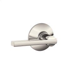 Latitude Lever Hall & Closet Lock - Polished Nickel