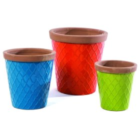 Flew The Coop Planter, mixed colors - Set of 3
