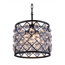 """1204 Madison Collection Chandelier D:14"""" H:13"""" Lt:3 Mocha Brown Finish (Royal Cut Crystals)"""