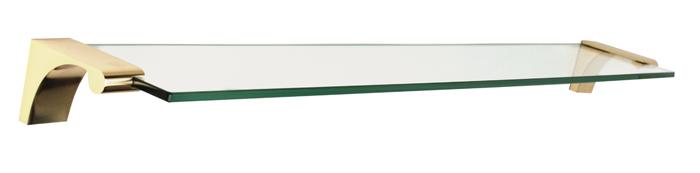 Luna Glass Shelf A6850-24 - Polished Brass