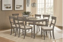 Rectangular Dining Table - Weathered Pepper Finish