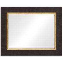 "Coffee & Gold ""Homespun"" Mirror"