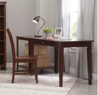 "48"" Writing Table Espresso Product Image"