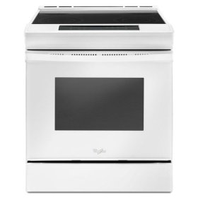 Whirlpool® 4.8 cu. ft. Guided Electric Front Control Range With The Easy-Wipe Ceramic Glass Cooktop - White