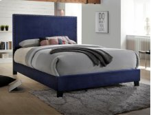 Delora Queen Headboard Navy