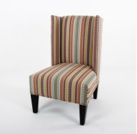 High back wing chair with nails Product Image