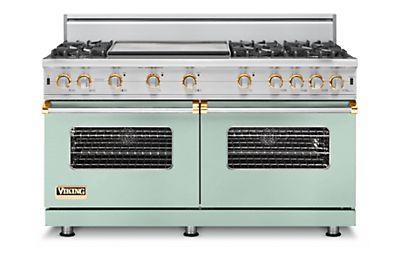 "60"" Custom Sealed Burner Range, Natural Gas, Brass Accent"