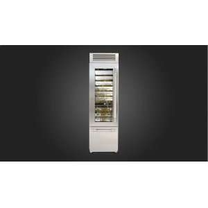 "Fulgor Milano24"" Pro Wine Cellar - Left Door - Stainless Steel"