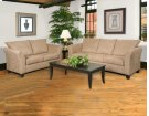Sienna Mocha Sofa and Loveseat Product Image