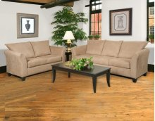 Sienna Mocha Sofa and Loveseat