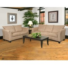 1000 Sienna Mocha Sofa and Loveseat