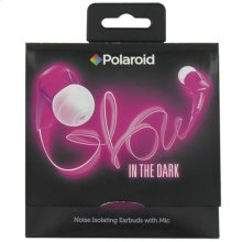 Polaroid Glow Headphones, Noise Isolating Earbuds with Mic - PHP735PK, Pink