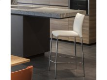 The Romi Italian White Leather Bar Stool Bar Height