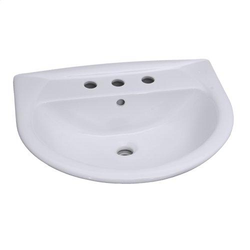 Karla 650 Pedestal Lavatory - White
