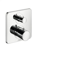 Stainless Steel Optic Thermostat for concealed installation with shut-off valve
