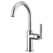 Bar Faucet With Arc Spout and Knurled Handle