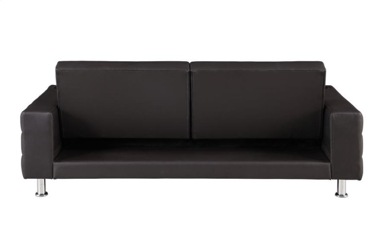 300294 in by Coaster in San Jose, CA - Brown Faux Leather Sofa Bed