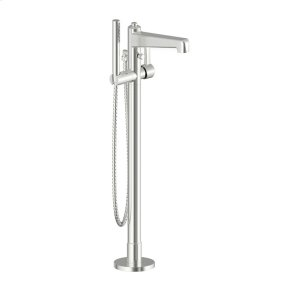 Single Supply Floor Tub-Filler Wallace (series 15) Satin Nickel