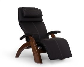 Perfect Chair PC-600 Omni-Motion Silhouette - Black Top-Grain Leather - Walnut