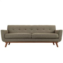 Engage Upholstered Fabric Sofa in Oatmeal