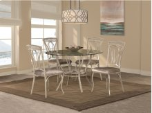 Napier 5-piece Round Dining Table Set - Aged Ivory