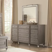Dara Two - Mirror - Gray Wash Finish