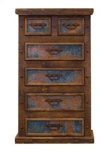 Chest W/Turquoise Copper Panels