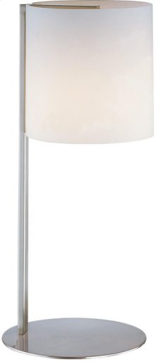 Table Lamp, Ps W/frost Glass Shade, E27 Cfl 13w