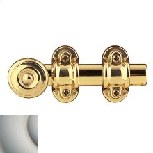 Satin Nickel Ornamental Heavy Duty Surface Bolt
