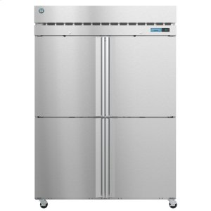 HoshizakiF2A-HS, Freezer, Two Section Upright, Half Stainless Doors with Lock