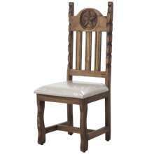 Dining chair with cushion seat with rope and star