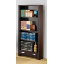 Skylar Contemporary Cappuccino Bookcase