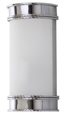 Florence Wall Sconce - Chrome Shade Color: White