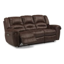 Downtown Fabric Power Reclining Sofa with Power Headrests