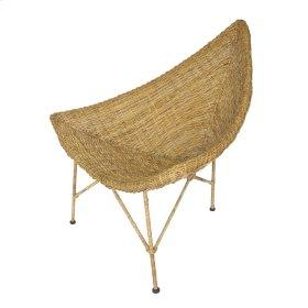 Winscott Rattan Chair Golden Natural Legs, Golden Natural