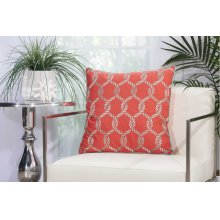 "Outdoor Pillow L1507 Coral/aqua 20"" X 20"" Throw Pillow"