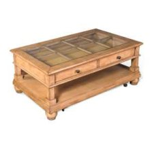 Dockside Coffee Table w/ Glass Top