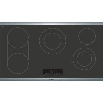 """36"""" Electric Cooktop 800 Series - Black with Stainless Steel Frame"""