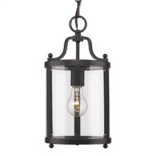 Payton Mini Pendant in Black with Clear Glass