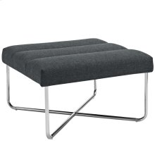 Reach Upholstered Fabric Ottoman in Gray