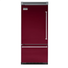 "Burgundy 36"" Bottom-Mount Refrigerator/Freezer - VIBB (Left Hinge Door)"