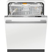 Fully-integrated, full-size dishwasher with hidden control panel, 3D+ cutlery tray, custom panel and handle ready