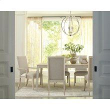 Lilly - Rectangular Angle Leg Dining Table - Champagne Finish